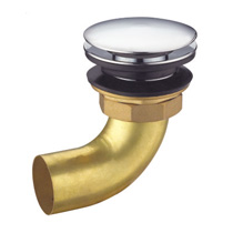 "Brass waste for bathtub 1 1/2"",clic-clac"